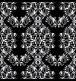 vintage floral baroque seamless pattern black vector image
