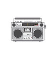 vintage portable radio cassette player retro vector image