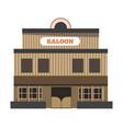 vintage saloon building vector image vector image