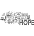 what do you hope for in your life text word cloud vector image vector image