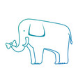 wild elephant isolated icon vector image vector image