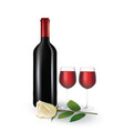 wine and rose vector image