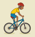 man athlete healthy lifestyle vector image