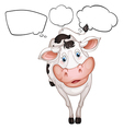 A cow with empty callouts vector image