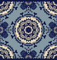 abstract damask seamless ornament pattern fabric vector image