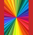 abstract rainbow swirl vector image vector image