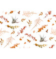 autumn fall leaves foliage lovely seamless pattern vector image vector image