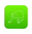 bald wakari icon green vector image
