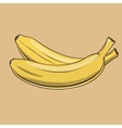 Bananas in vintage style Colored vector image vector image