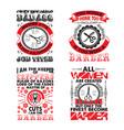 barber set quote bundle best for print design vector image vector image