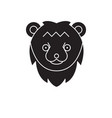 bear head black concept icon bear head vector image vector image