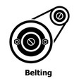 belting drive icon simple black style vector image vector image