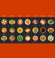 big set of asian food vector image