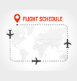 blank flight schedule border frame on vector image vector image