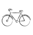 blurred thick silhouette of tourist bicycle icon vector image vector image