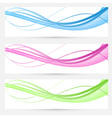 Bright modern speed swoosh cards set vector image vector image
