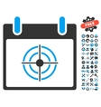 Bullseye Calendar Day Icon With Bonus vector image vector image