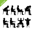 Business man silhouettes vector image vector image