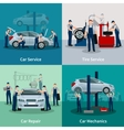 Car Service 2x2 Compositions vector image vector image