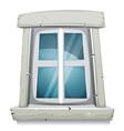 cartoon closed window vector image vector image