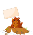 cartoon groundhog vector image vector image