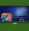cartoon outdoor camping vector image vector image