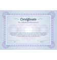 certificate diploma guilloche water marks pattern vector image