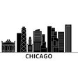 chicago architecture city skyline travel vector image vector image