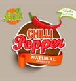 chilli pepper logo vector image vector image