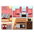 cinema building facade movie vector image vector image