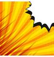 comic creative template vector image vector image