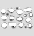 comic white speech bubbles collection vector image