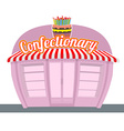 Confectionary shop Sweets shop Signage celebratory vector image vector image