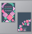 creative abstract with rhombus cover for web and vector image vector image