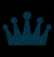 crown composition icon of halftone spheres vector image