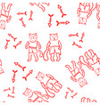 cute cats pattern vector image vector image