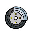 cute tire car style design vector image vector image