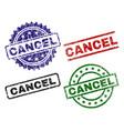 damaged textured cancel stamp seals vector image