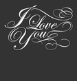 decorative i love you calligraphy vector image