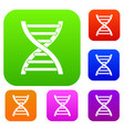 dna set collection vector image vector image
