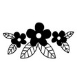 flower spring nature decoration pictogram vector image vector image