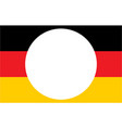 german flag with copy space for text vector image