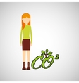 girl concept ecological plant vector image