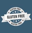 gluten free ribbon gluten free round white sign vector image vector image