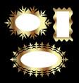 gold frame design set vector image