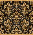 golden damask pattern vintage ornament and vector image