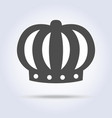 gray monarch crown icon symbol vector image vector image