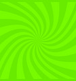 green abstract spiral ray background vector image vector image