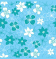 green and white flower mix seamless pattern vector image vector image