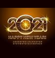 greeting card happy new year 2021 alphabet set vector image
